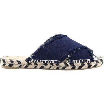 Castaner Women's Palmera Espadrille Slide Dark Blue Cotton