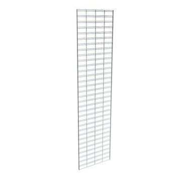 Econoco Metal Slat Grid for Any Retail Display or Home Storage, 2 Width x 8 Height, 3 Grids Per Carton (CHROME)