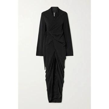 Rick Owens - Abito Jersey Wrap Maxi Dress - Black