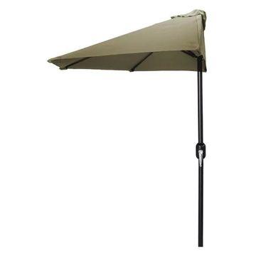 Jordan Manufacturing 9' Half Umbrella, Khaki