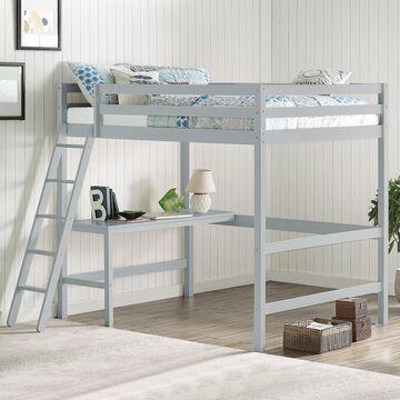 NE Kids Caspian Wood Finish Full Loft Bed