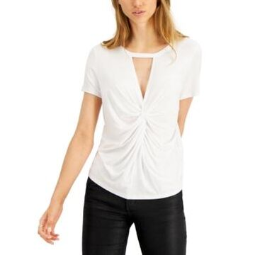Bar Iii Twist-Front Cutout T-Shirt, Created for Macy's