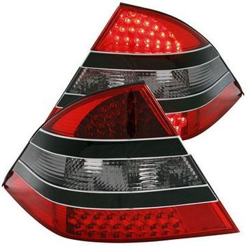 Anzo USA LED Tail Lights in Red/Smoke with Black Center, LED Tail Lights - 321118