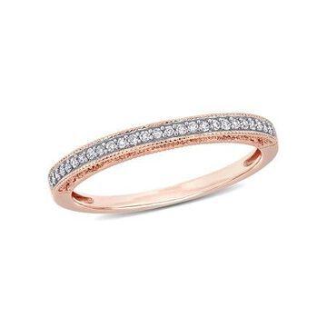 Miabella 1/10 Carat T.W. Diamond 10k Rose Gold Wedding Band