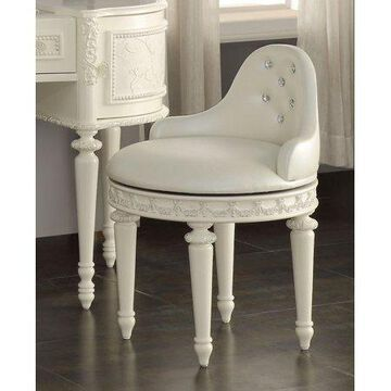 Acme Dorothy Swivel Chair, Ivory