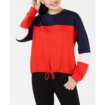 Juniors' Colorblocked Cropped Sweatshirt