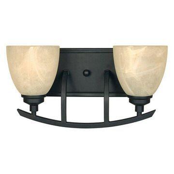 Designers Fountain 82902 Tackwood 2 Light Bathroom / Vanity Fixture
