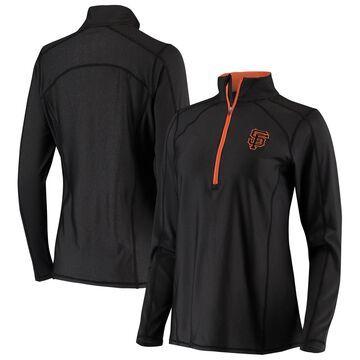 San Francisco Giants Antigua Women's Tempo Desert Dry Half-Zip Jacket - Black