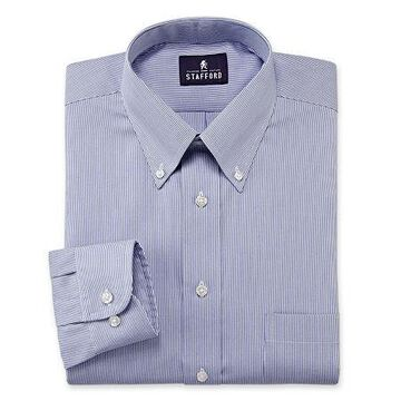 Stafford Mens Wrinkle Free Pinpoint Button Down Collar Oxford Big and Tall Dress Shirt