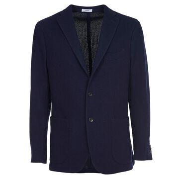 Boglioli Blue Knitted Jacket