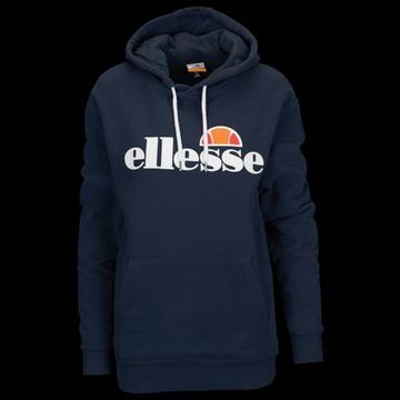 Ellesse Torices Hoodie Sweatshirt - Navy Blue / White