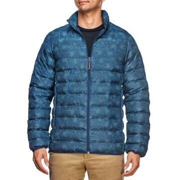 Tallia Men's Slim Fit Night Sky Print Puffer Jacket and a Free Face Mask