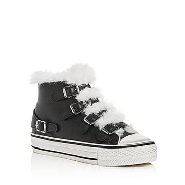 Ash Women's Valko Leather & Faux-Shearling High Top Sneakers