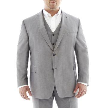 JF J. Ferrar Gray Suit JacketBig & Tall