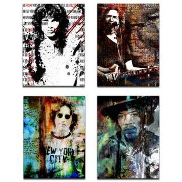 Ready2HangArt Limited Edition 'Rock Stars' 4-Pc. Canvas Art Print Set