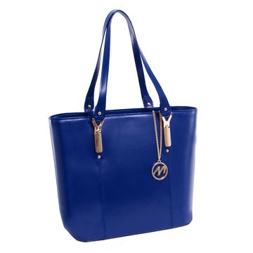 Leather Ladies Tote with Tablet Pocket
