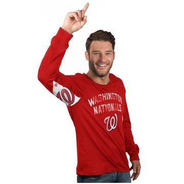 Washington Nationals Hands High Long Sleeve T-Shirt - Red