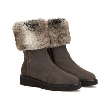 Aquatalia Womens Kathy Closed Toe Mid-Calf Cold Weather Boots