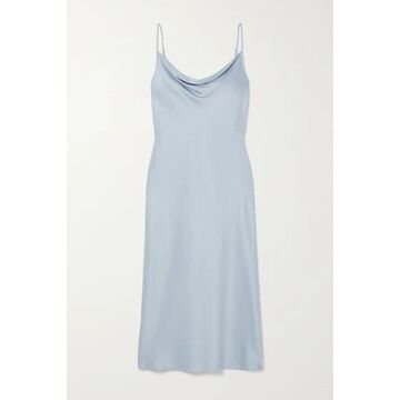 Max Mara - Leisure Teoria Draped Washed-satin Midi Dress - Light blue