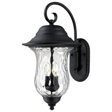 Volume Lighting Aurora 3-Light Antique Iron Outdoor Wall Sconce