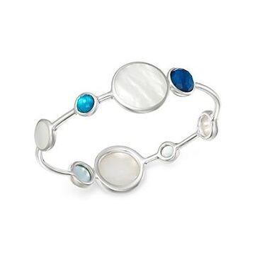 Ippolita Sterling Silver Wonderland Mother-of-Pearl Doublet Bangle Bracelet in Blue Moon