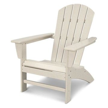 POLYWOOD Nautical Adirondack Chair in Sand
