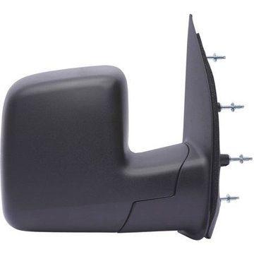 61179F - Fit System Passenger Side Mirror for 08-09 Ford Econoline Van, single lens, textured black, foldaway, Manual