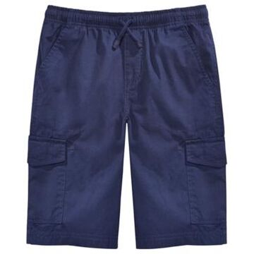Epic Threads Big Boys Blue Textured Canvas Cargo Shorts, Created for Macy's