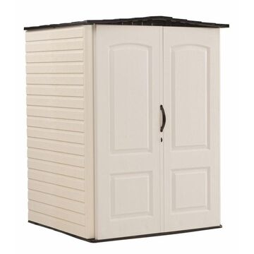 Rubbermaid 5-ft x 4-ft Storage Shed in Off-White