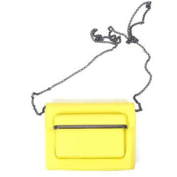 Mary Katrantzou Yellow Leather Handbag