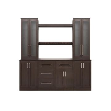NewAge Products Home Bar 9 Piece Cabinet Set - 21