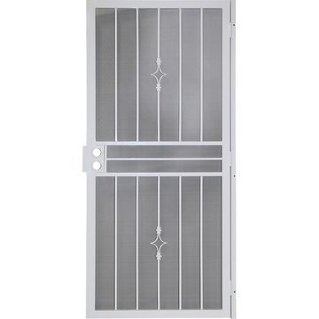 Gatehouse Covington White Steel Surface Mount Single Security Door (Common: 36-in x 81-in; Actual: 39-in x 81.75-in)