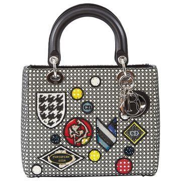Dior Lady Dior White Cloth Handbag