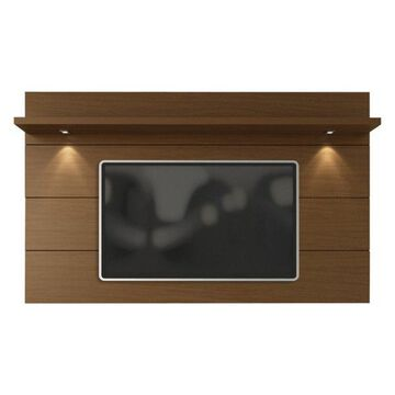 Manhattan Comfort Cabrini Tv Panel 2.2, Nut Brown