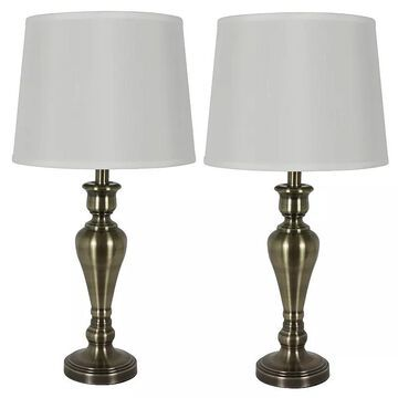 Decor Therapy Marie Table Lamp 2-Piece Set, Multicolor