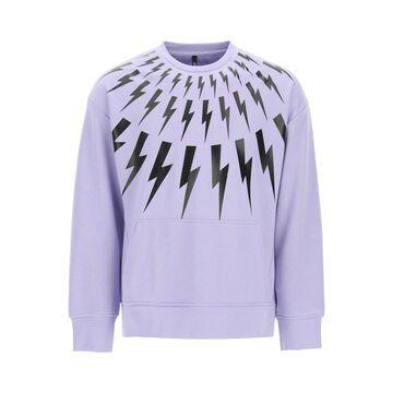Neil barrett fair-isle thunderbolt crewneck sweatshirt