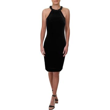 Carmen Marc Valvo Womens Party Dress Velvet Halter