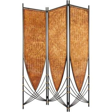 Oriental Furniture 6 Ft Tall Tropical Philippine Room Divider, 3 panel