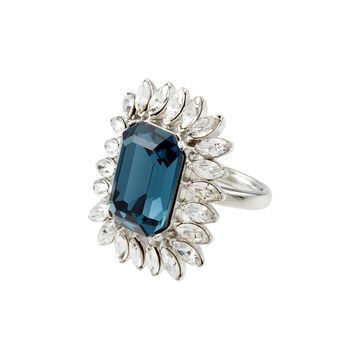 crystal embellishment cocktail ring
