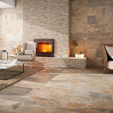 SomerTile 12.5x24.5-inch Ariana Ocre Porcelain Floor and Wall Tile (5 tiles/10.96 sqft.) (CASE)