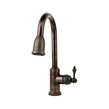 Single Handle Kitchen Faucet with Pullout Spray, Oil Rubbed Bronze