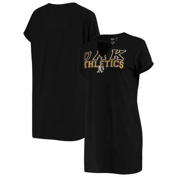 Concepts Sport Oakland Athletics Women's Black Fairway Nightshirt