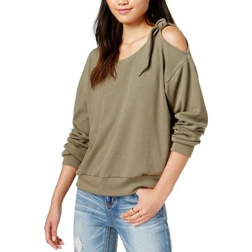 Minkpink Womens Eva Sweater Cold Shoulder Scoop