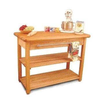 Pemberly Row French Country Butcher Block, Natural