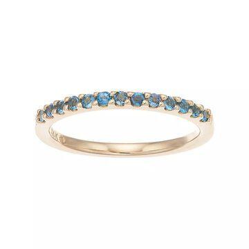 Boston Bay Diamonds 14k Gold Blue Topaz Stack Ring, Women's, Size: 8