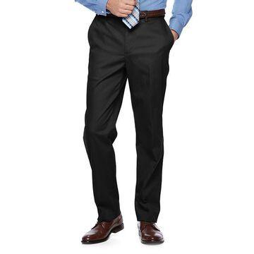 Men's Croft & Barrow Classic-Fit Flat-Front No-Iron Stretch Khaki Pants, Size: 33X30, Black