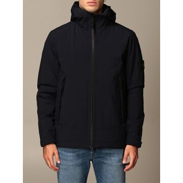 Stone Island Jacket With Hood And Zip