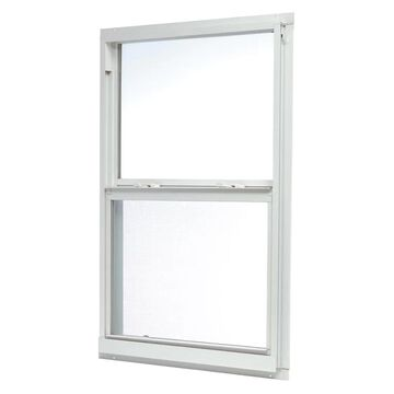 ReliaBilt 46000 Series 31.5-in x 59.5-in x 2.6-in Jamb Aluminum New Construction White Single Hung Window | ASHW3260RB