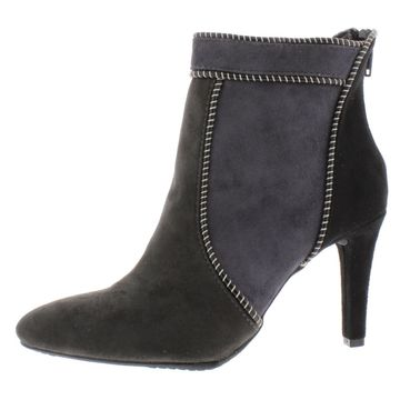 Rialto Womens Corey Faux Suede Ankle Booties
