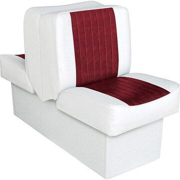 Wise 8WD707P-1-925 Deluxe Series Lounge Seat, White-Red